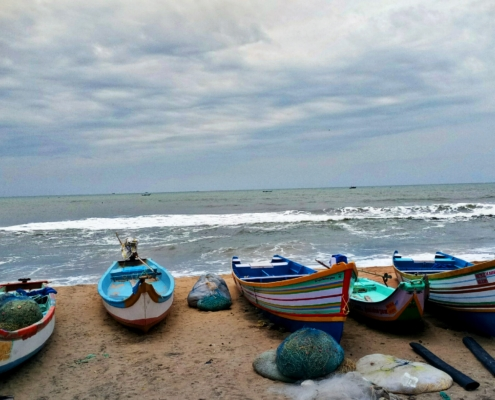 Fishing boats on Marina Beach