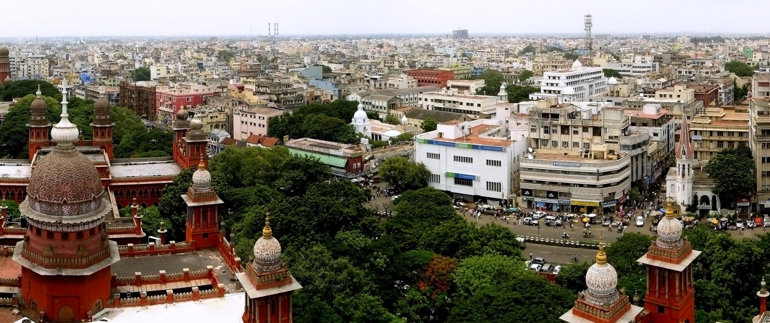 Georgetown Panorama from Chennai High Court