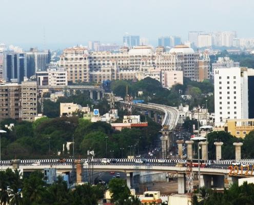 Chennai city skyline